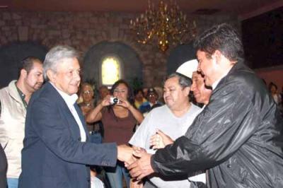 El Lic. Andrés Manuel López Obrador Presidente Legítimo de México ayer día 10 estúvo en Guanajuato, Guanajuato